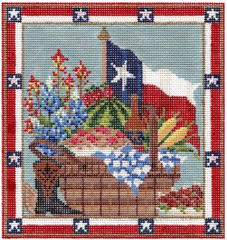 Texas Picnic Basket Painted copy