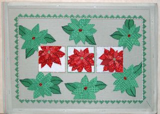 Sew much fun poinsettias